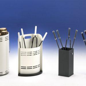 Photo pour document commercial d'accessoires de cheminée avec fond dégradé
