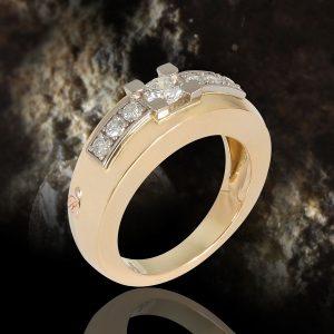 Bague diamant - Photo de Studio Macro avec ajout de fond - Image Pro Photolouis