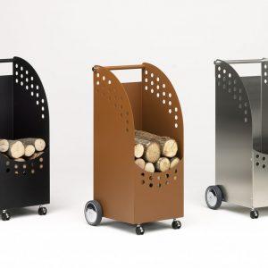 Packshot présentant une gamme d'accessoires roulants de cheminées - Image Pro Photolouis
